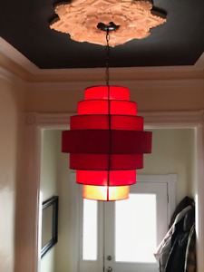 Gorgeous Red Hanging Light for Sale