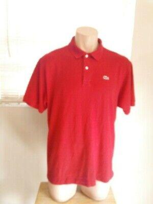 Lacoste  Men's Polo Shirt  Red Short Sleeve Sz 8/2XL