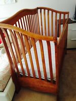 Crib and Changing Table Solid Wood