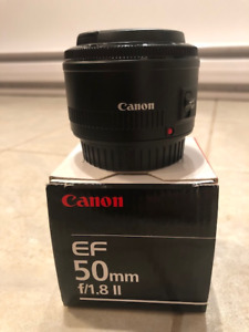 canon 50mm 1.8f lens for sale. Mint in Box