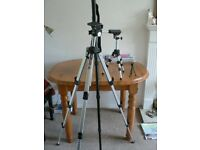 Two tripods and monopod