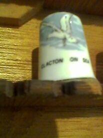 CLACTON ON SEA collectable thimble