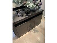 Sideboard Grey Gloss