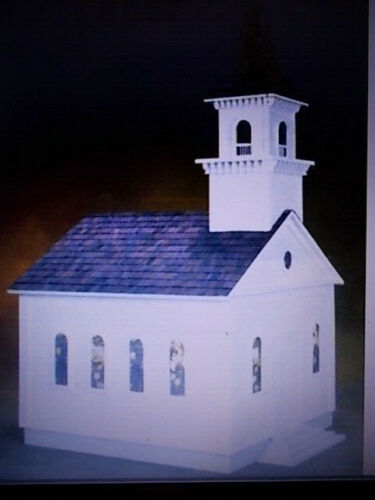 Dollhouse 1:12 iurchnch scale church assmbled & painted NLIP