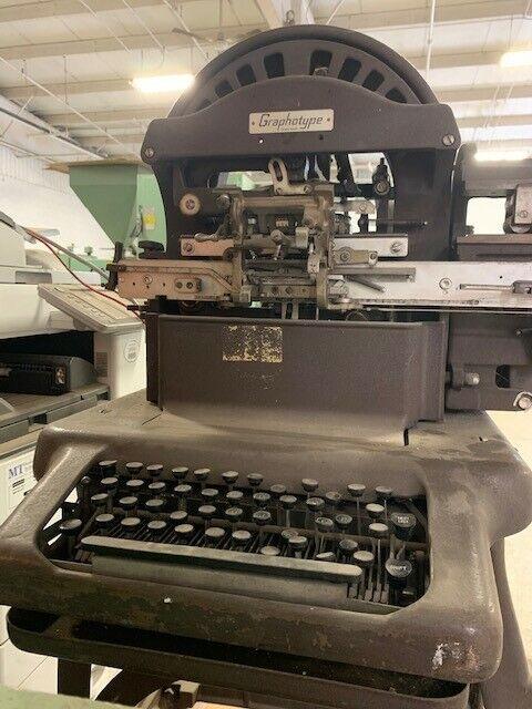 Antique Addressograph - Graphotype Machine