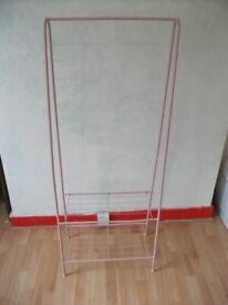 Storage rack and Coat Rack . Pink color . Size : H=150cm , W=60cm , D=37cm .
