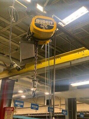 1 Ton Budgit Electric Chain Hoist W Manual Trolley Pendant Control 230460v