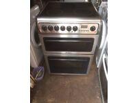 £127.99 Hotpoint sls/Black ceramic electric cooker+60cm+3 months warranty for £127.99