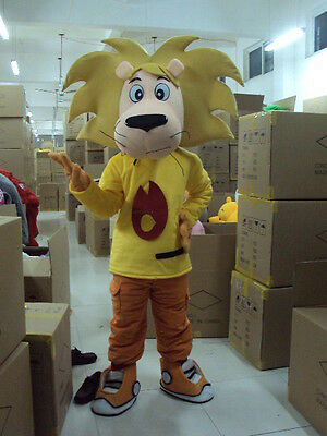 lion Mascot Costume Suit Fancy Dress Adults Size cosplay brave Lovely Strenthful