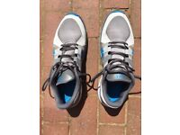 Nike Free 5.0 grey trainers with blue Nike swish. Mens size 9.5/44.5