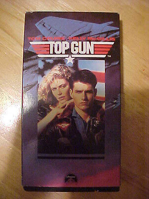 Top Gun  Vhs  Tom Cruise Kelly Mcgillis Rated Pg Paramount Pictures Full Screen
