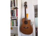 Washburn Electro Acoustic Guitar. Pick-up and tuner. Excellent Condition.