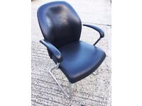 *** CHEAP LEATHER CANTILEVER CHAIRS ***