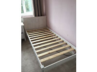 Rio Whitewash Wooden Single Bed Frame x 2
