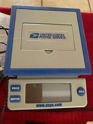 Usps 10lb Postal Scale Kglb Digital Display Power Adapter Or Aa Batteries Vg