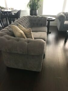 Tufted couches & chair