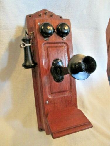OLD ANTIQUE KELLOGG WALL TELEPHONE!!!