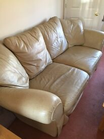 Leather sofa 3 seater and 2 seater - used but reasonably good condition