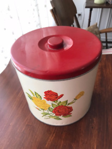 Antique Flour Can and Bread Box