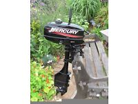Outboard motor Mercury 3.3hp long shaft with gears