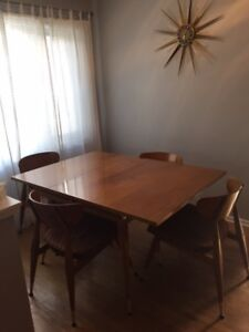 Teak Dining Room Table And Four Chairs