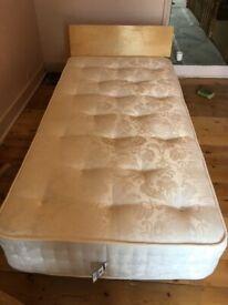 Quality birch wood single Bed - Warren Evans and mattress (optional)