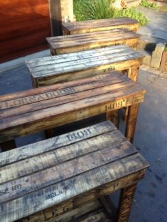 Work Bench Island Table Vintage Industrial Rustic Old Wooden Other Home Am