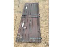 2x Dark Brown, Pine Soft Wood Stable Doors of varying Dimensions