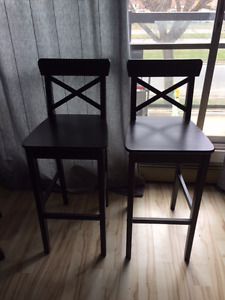 INGOLF Ikea bar stools with back rest