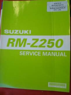 SUZUKI RM-Z250 FACTORY MOTORCYCLE WORKSHOP SERVICE MANUAL c2004 Dianella Stirling Area Preview