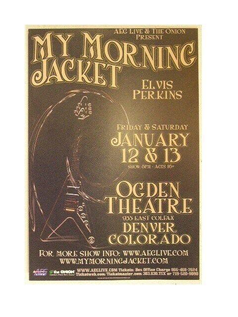 My Morning Jacket Handbill Poster Flying V Ogden