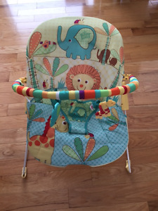 Bright Stars Lounge Chair and Infantino Child Carrier