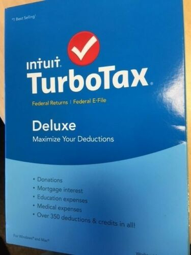 TurboTax Deluxe Federal Return + Federal E-File 2015: Deductions & Homeowners Windows|Mac INT940800F041