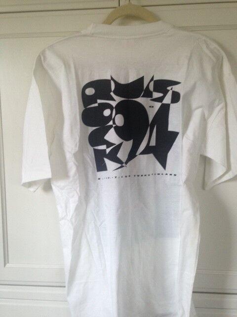 Vintage Rock Wear – Ruisrock Turku Festival Finland 1994 White XL T Shirt Unworn