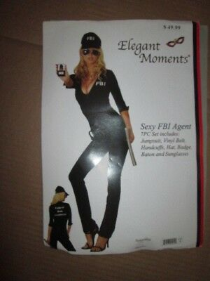 Womens SEXY FBI AGENT POLICE COP Halloween Costume M md Med Elegant Moments