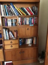 Large wood veneer book case
