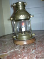 "Antique brass ""Anchor"" lamp"