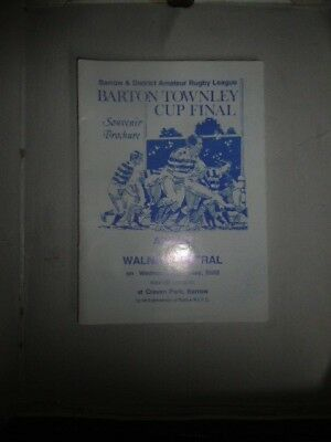 Askam v Walney Central 7th May 2003 Barton Townley Cup Final Craven Park, Barrow