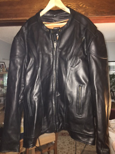 Heavy Duty Leather Jacket/Helmet