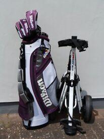 Ladies Wilson X31 Golf Club Set, as new