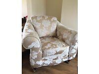 Gold armchair & sofa set