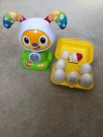 Fisher Price Bright Beats & Toomies Hide & squeak Eggs