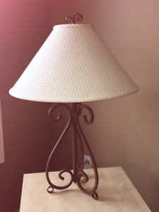 3 Way Wrought Iron Table Lamp