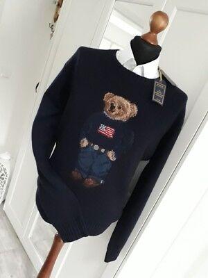 RALPH LAUREN  Polo Bear Bär Kollektion Herren Pullover navy Gr. 6XL  NEU