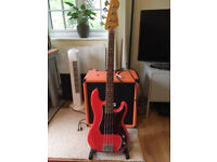 Fender Squier Vintage Modified Precision Bass - Fiesta Red