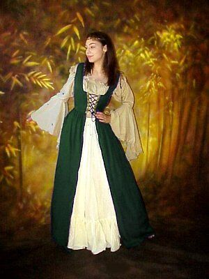 Q&I ~ RENAISSANCE MEDIEVAL Costume Bodice Pirate Irish OVER DRESS SPECIAL ORDER on Rummage