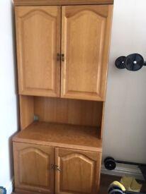 Good Quality Cupboard / Display Unit By Greaves & Thomas + Peach & Hatton