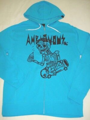 New AMBIGUOUS SKATE MEN'S FLEECE FULL ZIP HOODIE JACKET LARGE code D26, used for sale  Shipping to Canada
