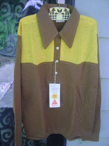 NWT VINTAGE Retro JOHN WELLS FASHION KNITWEAR Kids Western Brown Shirt Sz 16