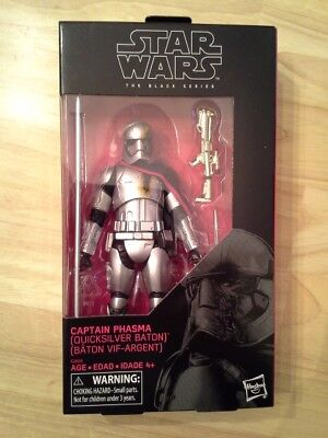 Star Wars Black Series 6 inch Captain Phasma (Quicksilver Baton)